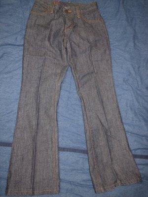 二手很新 5th street 深藍100%棉牛仔褲(直筒偏喇叭) size 28 新北市