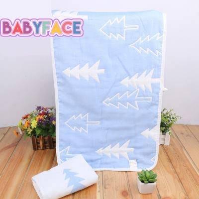 BabyFace【六層紗】2色小森林 純棉紗布料擦澡巾成人大乾髮巾 美容巾速乾耐用 (35*70CM)