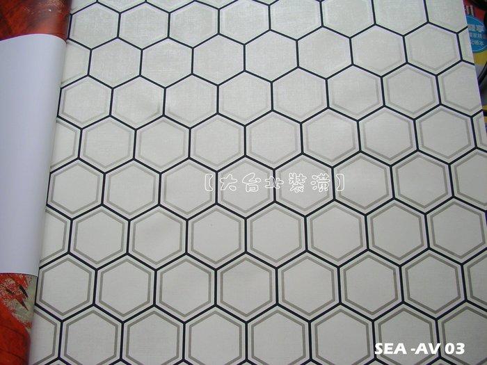 【大台北裝潢】美國Seabrook進口壁紙AV* Curie Geo 蜂巢六邊形(5色)