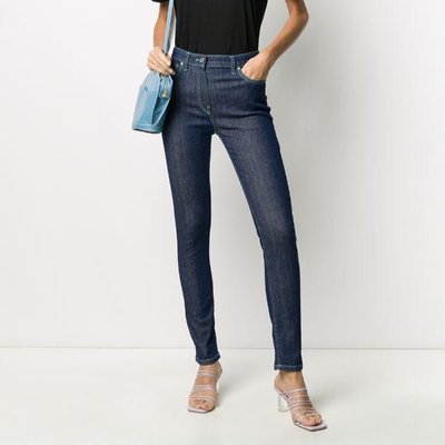 Kenzo contrasting stitching skinny jeans 女撞色縫線緊身單寧褲 限時折扣代購中