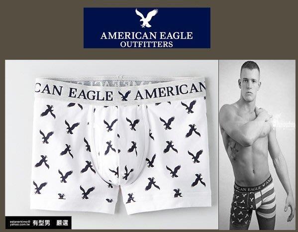 有型男~ AE American Eagle VS CK內褲 Underwear 短滿版白老鷹  S M L XL貝克漢