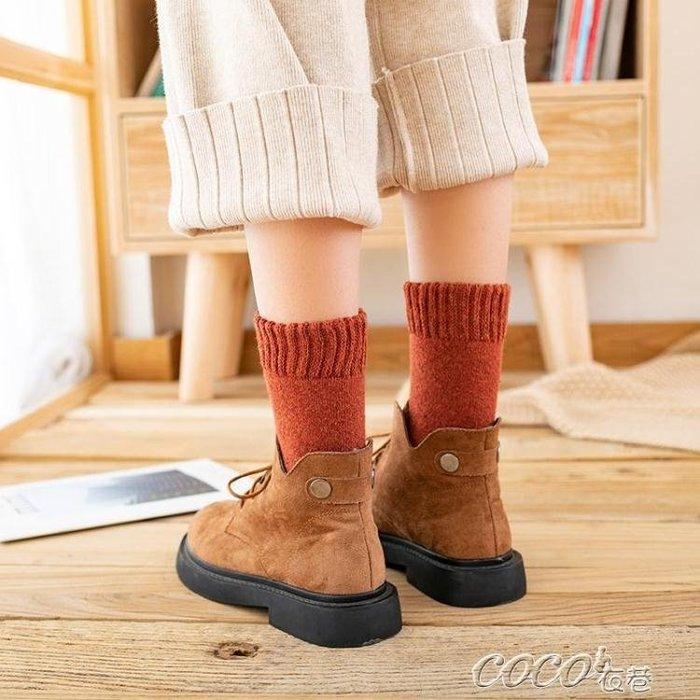棉襪 襪子女中筒襪秋冬季純棉韓版學院風加絨加厚毛圈襪保暖羊毛襪長襪