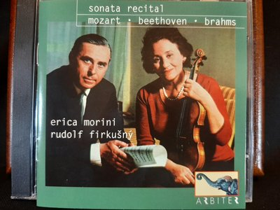 Morin,Firkusny,Mozart,Beethoven,Brahms:Sonata莫里妮,弗庫斯尼,莫扎特,貝多芬,布拉姆斯:小提琴奏鳴曲,如新。