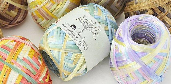 編織HAMANAKA Eco Andaria Colorful紙線(特訂款)~遮陽帽、包包~手工藝材料【彩暄手工坊】