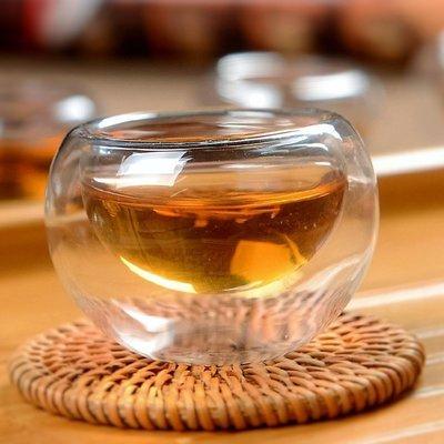 【自在坊】茶具 隔熱品茗茶杯 雙層玻璃...