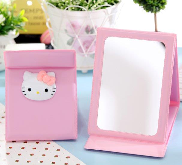 HelloKitty韓國女生可折疊化妝鏡可愛梳妝鏡便攜隨身鏡臺式小鏡子