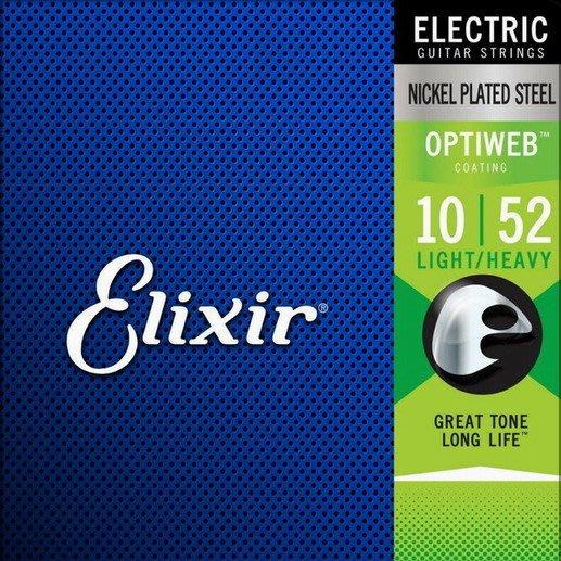 ☆ 唐尼樂器︵☆ Elixir 頂級 Optiweb 19077 10-52 超薄防鏽鍍膜電吉他弦(自然聲音/手感)