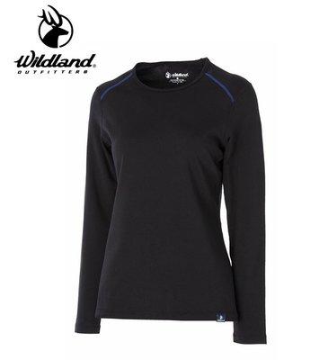丹大戶外用品【WILDLAND】荒野 女輕量抗菌親膚保暖衣 型號 0A52665-54 黑色
