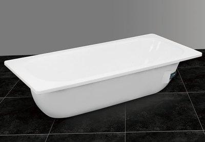 【 老王購物網 】摩登衛浴 M-60 搪瓷浴缸 鋼板琺瑯浴缸 琺瑯鋼板浴缸 160x70cm 長方形塘瓷浴缸