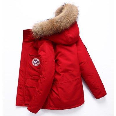 羽絨 外套 連帽夾克-純色短款貉子毛領男外套3色73un8[獨家進口][巴黎精品]