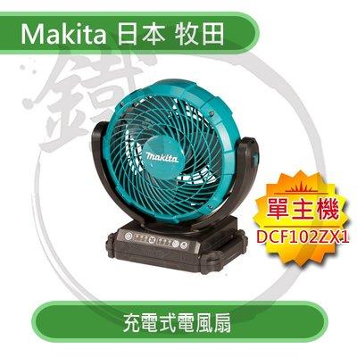 *小鐵五金*Makita 日本牧田 充電式電風扇 DCF102 單機 隨身風扇 附AC電源線
