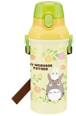 豆豆龍TOTORO塑膠水壺(MY NEIGHBOR彈蓋直飲480ML)4973307399350日本進口