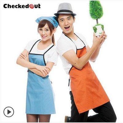 依尚依酷—[5色]韓版廚房家居圍裙 情侶款蛋糕/西點/麵包/咖啡店工作服【YK100】