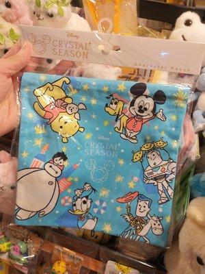 原裝日本 廸士尼 Disney Pooh Buzz Woody Baymax  超靚 布料 索袋 索繩袋 束繩袋