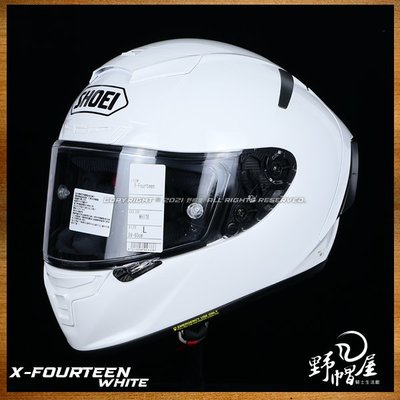 《野帽屋》日本 SHOEI X-14 全罩 安全帽 SNELL X-Spirit X14。WHITE 白