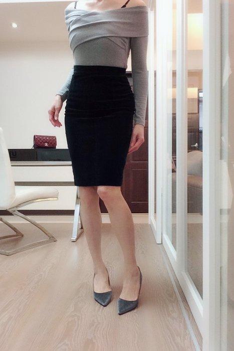 *Beauty*GALOMA黑色細絨窄裙I40號  800元GR