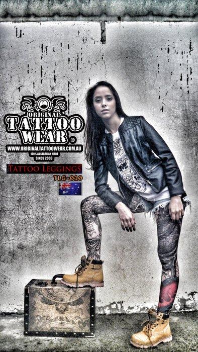 澳洲原創紋身衣著ORIGINAL TATTOO WEAR 100%防曬紋身褲 運動長褲 瑜珈褲(非紋身袖套)壓力褲