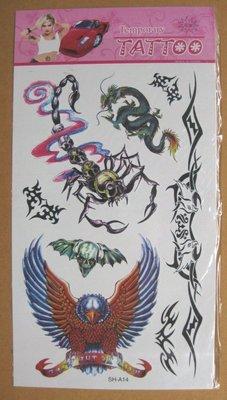 **--紋身貼紙---刺青貼紙---龍,鷹,蠍造型---TATTOOS---SH-A14