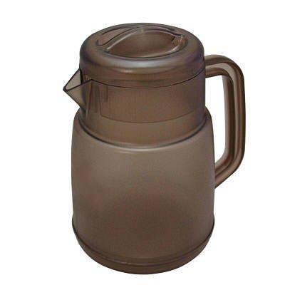 【批發價直營可刷卡】日本製 NEW PITCHER 不冒汗耐熱冷水壺-1.6L (二色)透明色 / 咖啡色、可沖泡咖啡