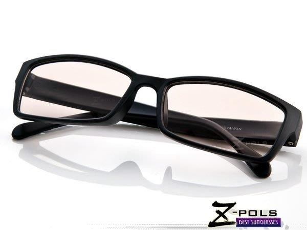 抗藍光最佳利器! 經典質感黑(韓流格紋圖騰)MIT視鼎Z-POLS專業設計PC材質 抗藍光眼鏡
