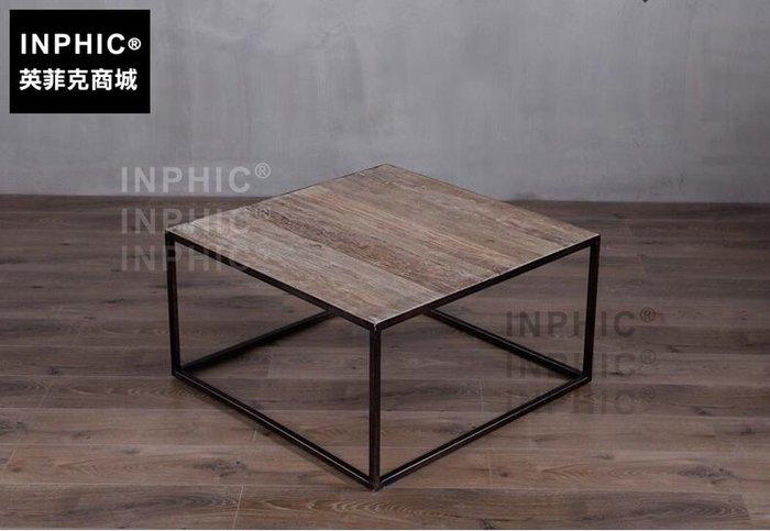 INPHIC-北歐鄉村鐵木茶几 工業風復古做舊/榆木桌面客廳家具-A款_S1910C