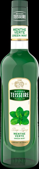 Teisseire 糖漿果露-綠薄荷風味 Green Mint 法國頂級天然糖漿 700ml-【良鎂咖啡精品館】