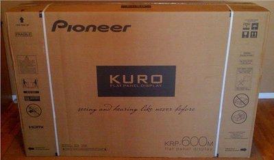 全新未拆封Pioneer KURO KRP-600M 頂級王者極黑電漿電視顯示器 KRP-500A參考