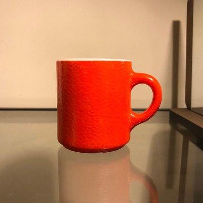 牛奶玻璃 紋理 馬克杯  milk glass mug pattern cup /fire king