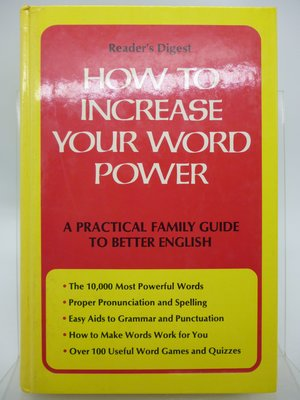 How to Increase Your Word Power-Reader's Digest(絕版)〖語言學習〗CRB