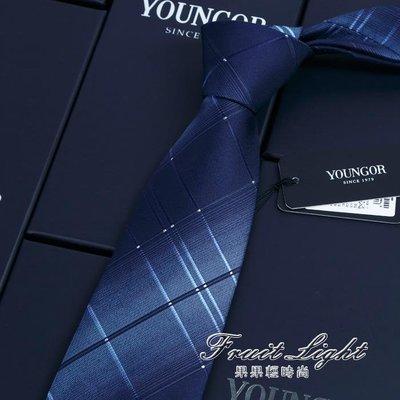 男士領帶/深藍色/結婚/韓版窄款/正裝休閒商務/禮盒裝/桑蠶絲