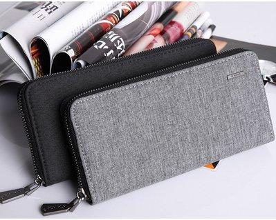 日式簡約長夾 現貨灰黑二色 可放5.5吋手機 KAKA正品 耐磨耐用 大容量多夾層 當作鈔票夾零錢包 手拿包手機包