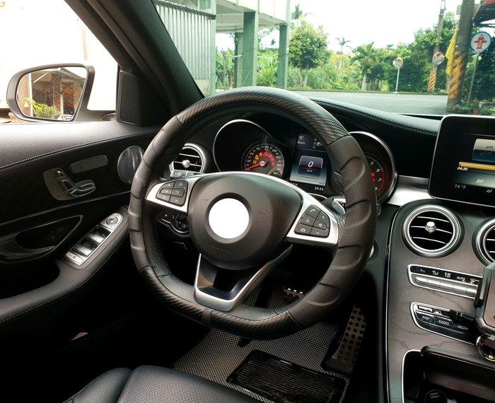 LUXGEN納智捷【U5方向盤皮套】新款-D型方向盤套 專用直套 三幅式賽車款 汽車保護套 握套 紅色車縫線 透氣皮套