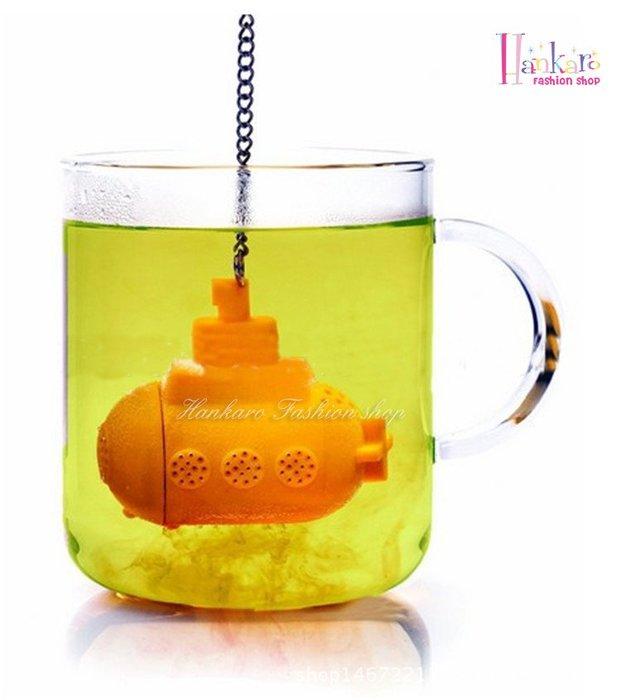 ☆[Hankaro]☆ 創意趣味矽膠潛水艇造型沖茶器