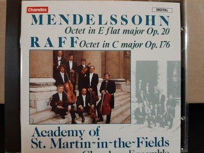 Academy Of st. Martin,Mendelssohn/Raff-Octet,聖馬丁學院室內樂合奏團,演繹孟德爾頌/拉夫-弦樂八重奏