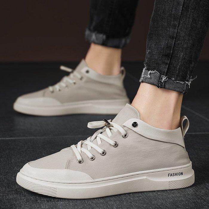 TIME&NES~鞋子男潮鞋2020春季新款百搭帆布鞋男士中高幫夏季透氣休閒鞋板鞋