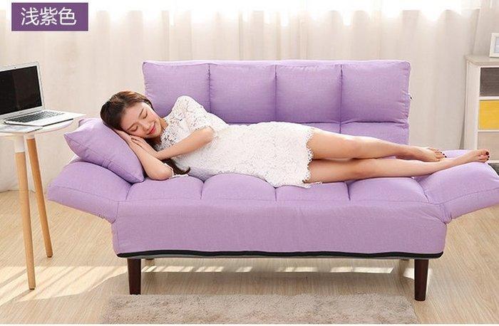 小戶型客廳懶人沙發床雙人榻榻米可折疊拆洗兩用臥室布藝小沙發椅
