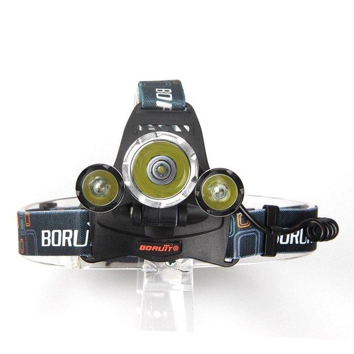 (世界最亮頭燈)  CREE XM-L2頭燈強光 全配組 (送2直充+2顆日本松下保護版電池3600流明)