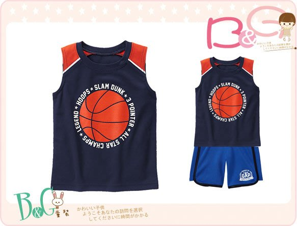 【B& G童裝】正品美國進口GYMBOREE籃球圖樣排汗背心上衣3,4,5yrs