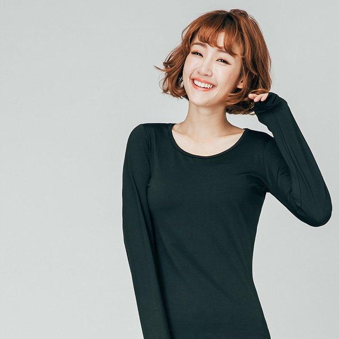 【極致舒適保暖衣】超舒適女圓領內搭共八色,輕薄材質富彈性,內裏刷毛,勝發熱衣、衛生衣