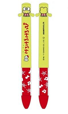 【 柒玖捌零日貨精品 】全新正品 三麗鷗 Keroppi 皮皮蛙 黑/紅色 原子筆 兩色筆 筆