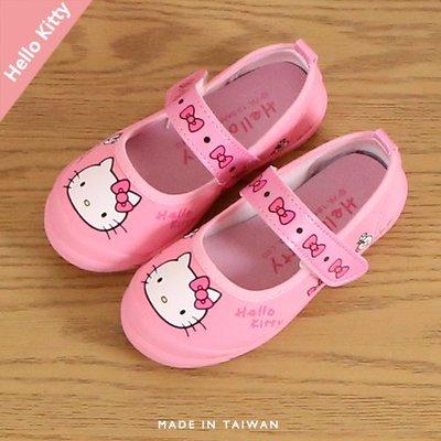 女童 2019年 Hello Kitty 魔鬼氈室內鞋 幼稚園室內鞋 休閒鞋 帆布鞋 MIT製造 Ovan