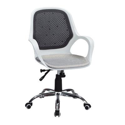 【在地人傢俱】20 幸福購-604A白黑雙色米色網布扶手升降辦公椅/電腦椅 CS915-8