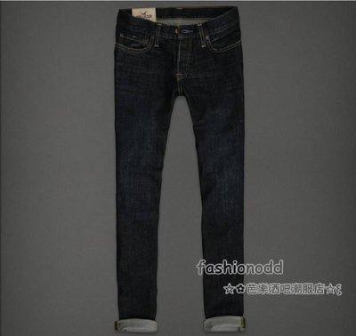 ☆✿fashionodd☆ξ【HOLLISTER】 Hollister Skinny Jeans Dark Wash 深刷色合身牛仔褲【現貨】MEN 31*32