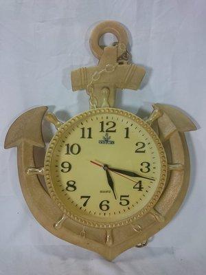 *阿柱的店* 早期 TELUX LOGO 船錨 造型時鐘