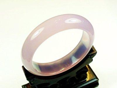 ((上品堂))頂級天然粉紫玉髓手鐲.手圍18.2,只給第一標