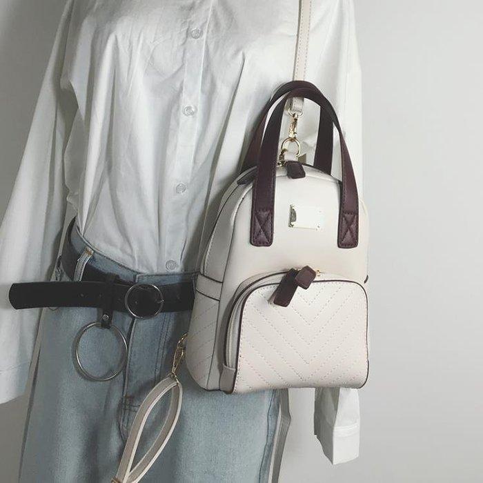 實拍上新包包2019新款撞色小雙肩包女韓版ins超火少女迷你小背包潮包上新特惠