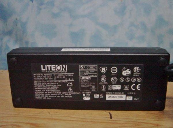 Y【小劉二手家電】LITEON  20V,6A變壓器,內徑2.5MM