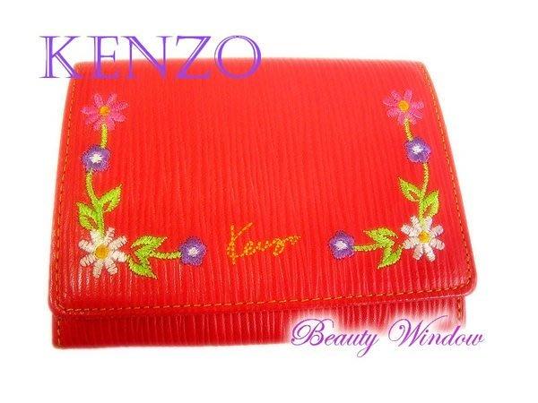 *Beauty*KENZO紅色證件夾 票夾 名片夾 約八成新