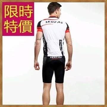 短袖騎行服套裝-明星款率性獨特造型男自行車衣55u59[獨家進口][米蘭精品]
