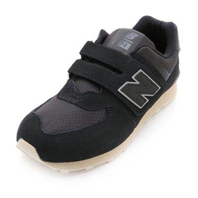 =CodE= NEW BALANCE 574 魔鬼氈慢跑學步鞋(黑灰) KV574VII 焦糖奶油底 小童 嬰兒 男女